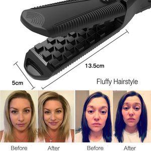Image 2 - Plancha para voluminizar el cabello, planchas de hierro planas, alisadoras esponjosas, adecuadas para herramientas de estilismo de cabello largo y corto