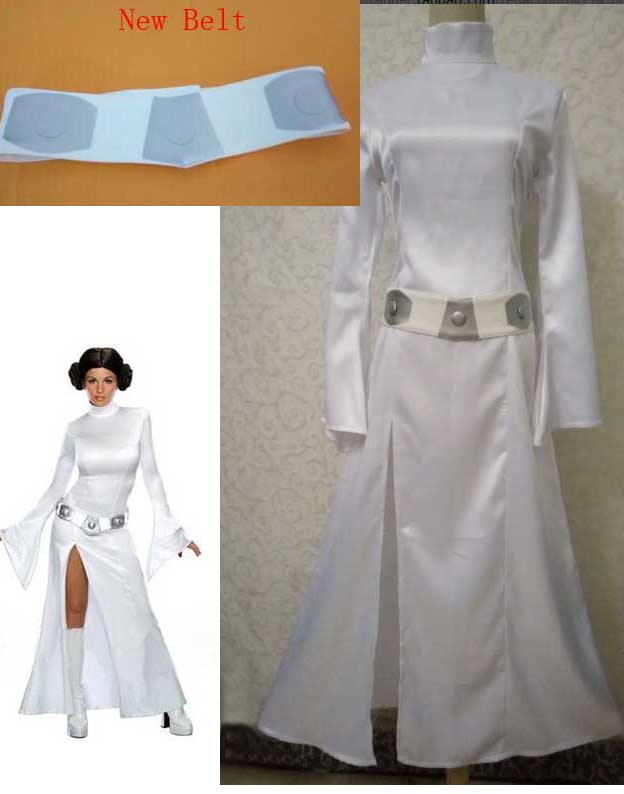 Big Sale STAR WARS Cosplay Alderaan Princess Leia Organa Solo Costume Adult Child Halloween Cosplay Dresses Free Shipping