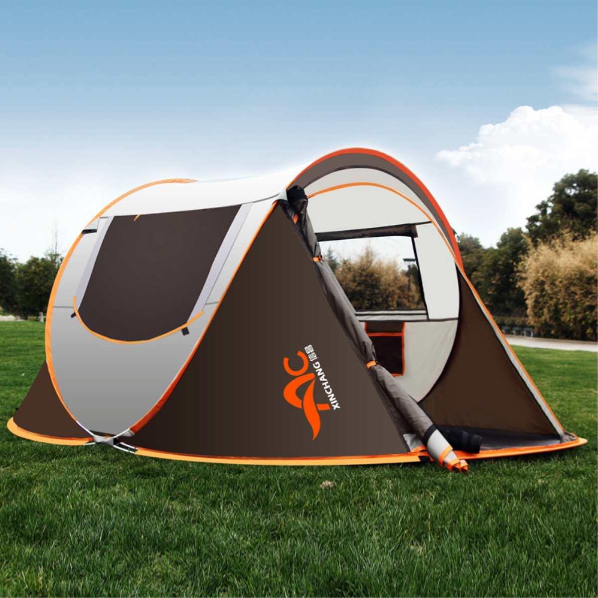 Tente-roulotte Grand Étanche auvent pare-soleil store extérieur 3-4 Personnes En Plein Air Pêche Randonnée Camping Accessoires Portable Kits