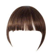 Thin Front Fringe Clip in Hair Extensions Brown One Piece Striaght Air Fringe Hair Piece Accessories with Hair Temples(China)