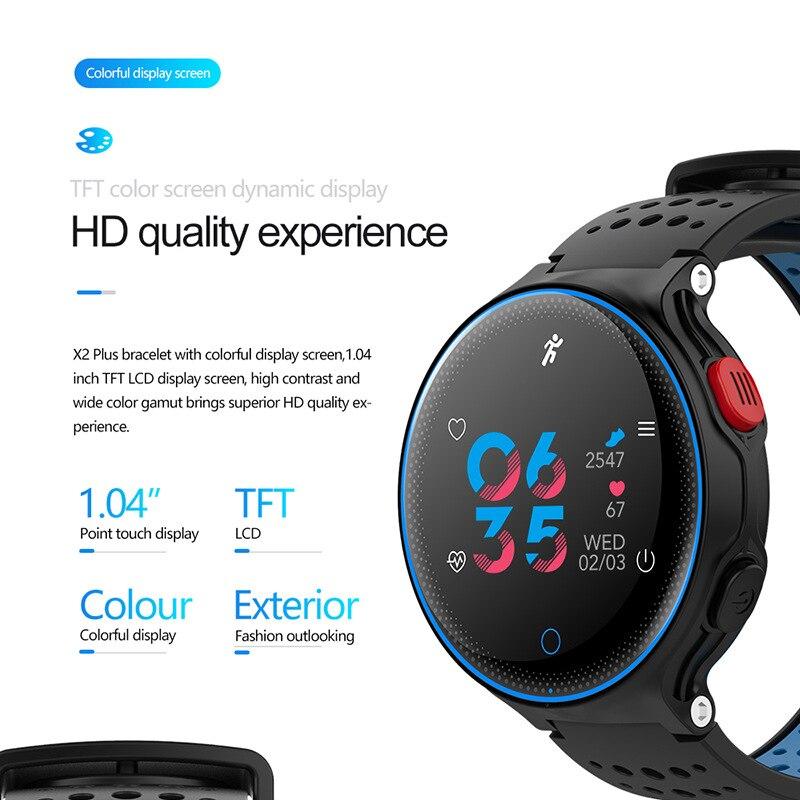 Smart Blood Pressure Bracelet Dynamic Heart Rate Oxygen IP68 Depth Waterproof Watch X2plus D50