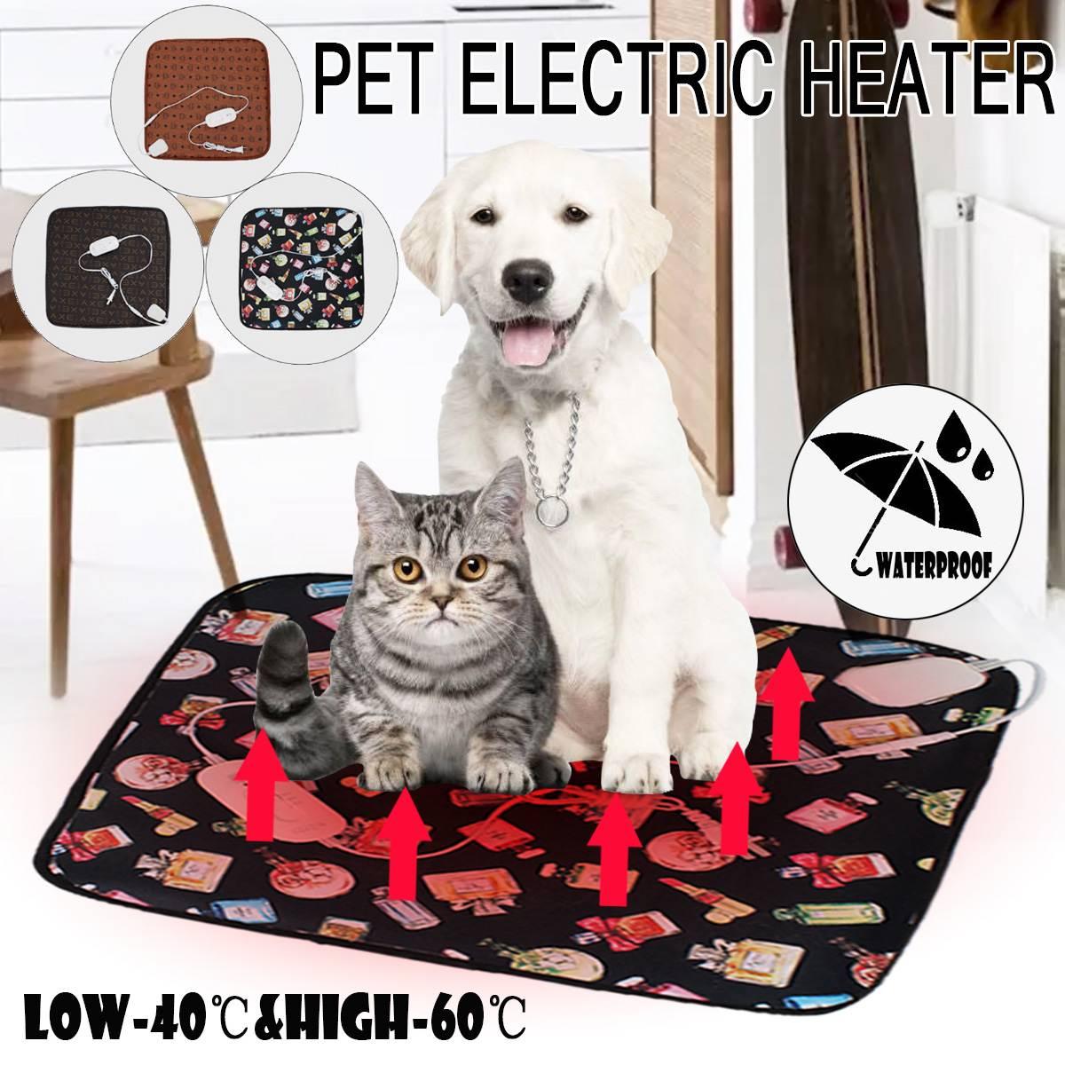 Dieren Bed Heater Mat Verwarming Pad Goede Kat Hond Bed Lichaam Winter Warmer Tapijt Huisdier Pluche Elektrische Deken Verwarmd Seat