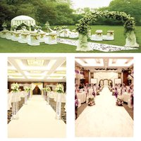 Wedding Aisle Floor Runner White Carpet Hollywood Awards Party Decoration Polyester Floor Rug Runner Party Events Supplies 10x1m