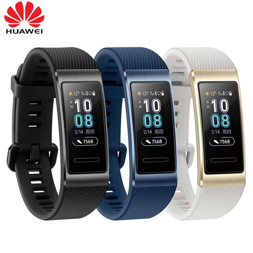 Huawei Band 3 & 3Pro Smart Bracelet 0.95 Inch Tracker Swimming Waterproof Bluetooth Fitness Tracker Touch Screen image