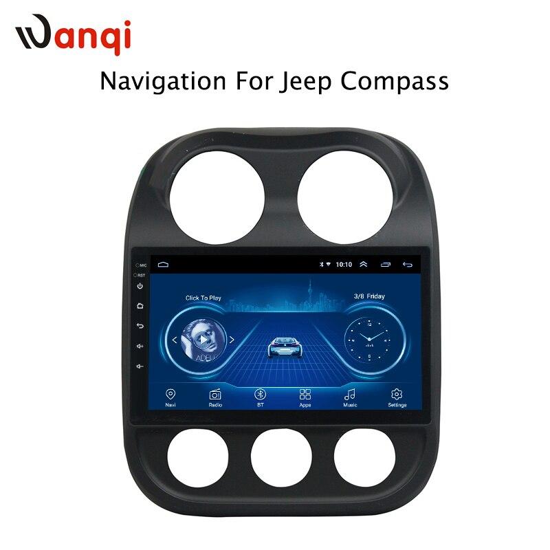10.1 pouces Android 8.1 pour Jeep boussole 2010-2016 voiture DVD GPS Navigation Radio Audio vidéo système multimédia