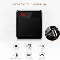 Portable 30 Cylinder Automatic Inflatable Pump Electric Tire Inflator 12V Auto Boat Digital Car Air Compressor with Light