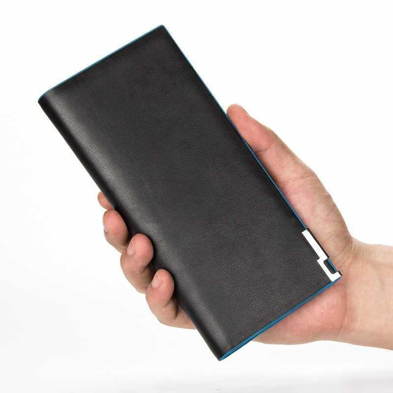 Брендовый Повседневный тонкий мужской кошелек, длинный однотонный кошелек из искусственной кожи, кошельки, держатель для карт, мужской клатч, сумка для денег, кошелек с карманом для монет