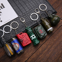Keychain Pendant Trinket Game PUBG CS GO FPS Smoke Bombs Drink Parachute Bags Airplanes Key Chain Ring for Men Gifts Souvenirs(China)