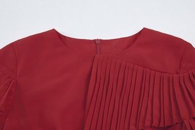 De Chaude Mignon Rouge Vintage Soie Longue 2017 Point Volants D'été Nouveau Dame Haute Mousseline Qualité Lolita Robe En YqZ5y4