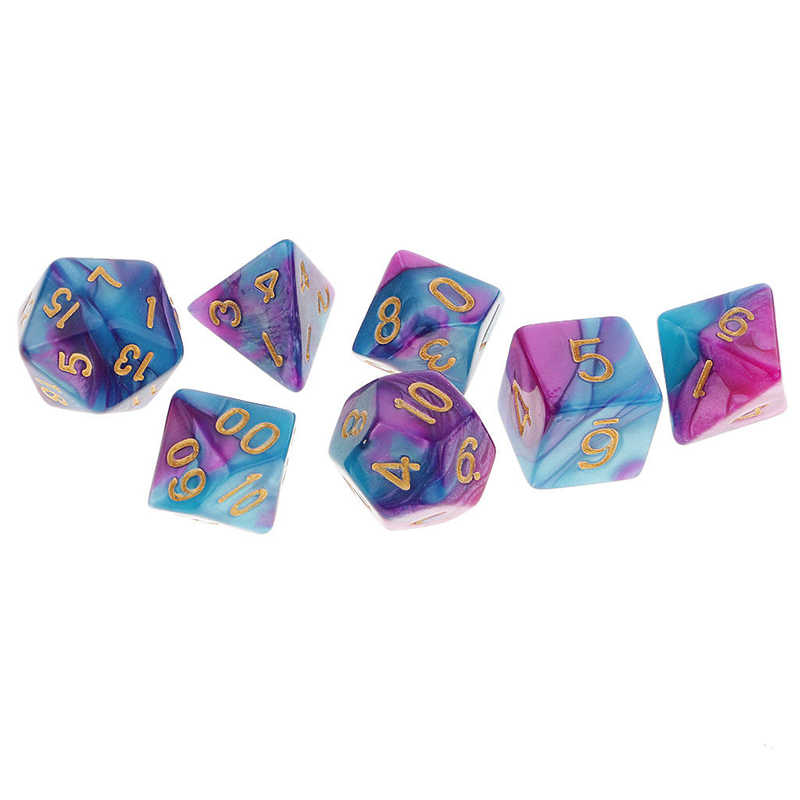 Detail Feedback Questions about Mayitr 7PCS Drinking Dice Pack Polyhedral  Purple Blue Dice Party Game Dice Toy Set For DND TRPG MTG Droshipping on ... a5edc64f2e7e