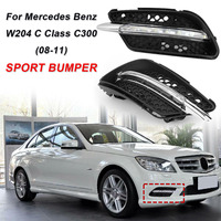 1 Pair LED Fog Lamp DRL Daytime Running Light For Mercedes For Benz W204 C Class C300 For AMG Sport 2008 2009 2010 2011