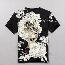 Llegada camiseta 2018 nueva venta caliente T camisa de los hombres  productos de calidad bordado corto carpa tatuaje de manga cor. 1589393f490