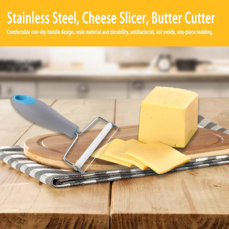 <font><b>Cheese</b></font> Slicer Butter Cutting Stainless steel Eco-friendly Butter Cutter <font><b>With</b></font> Plastic Handle <font><b>Knife</b></font> <font><b>Board</b></font> Kitchen DIY Cooking Too image
