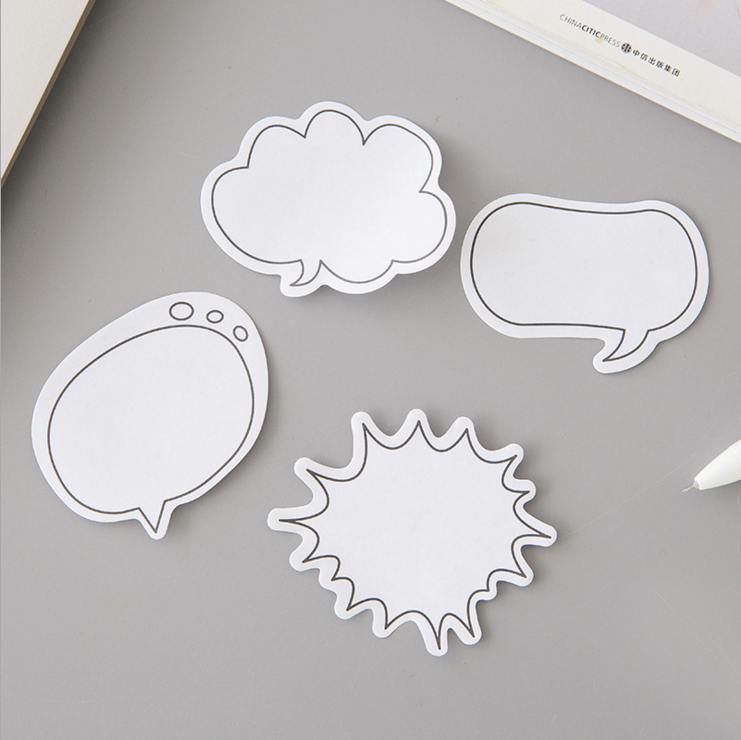 Ellen Brook 1 pièce boîte de dialogue Kawaii Notes autocollantes poste créative bloc-Notes Filofax bloc-Notes bureau fournitures scolaires papeterie