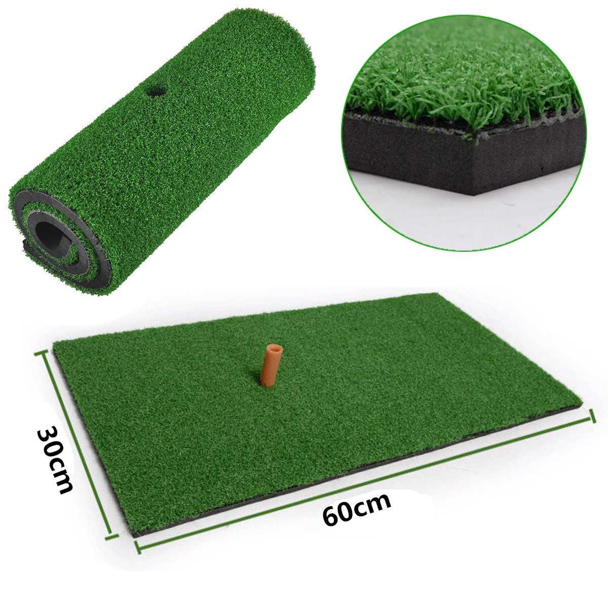 30X60cm Backyard Golf Practice Mat Indoor Training Hitting Grass Driving Holder