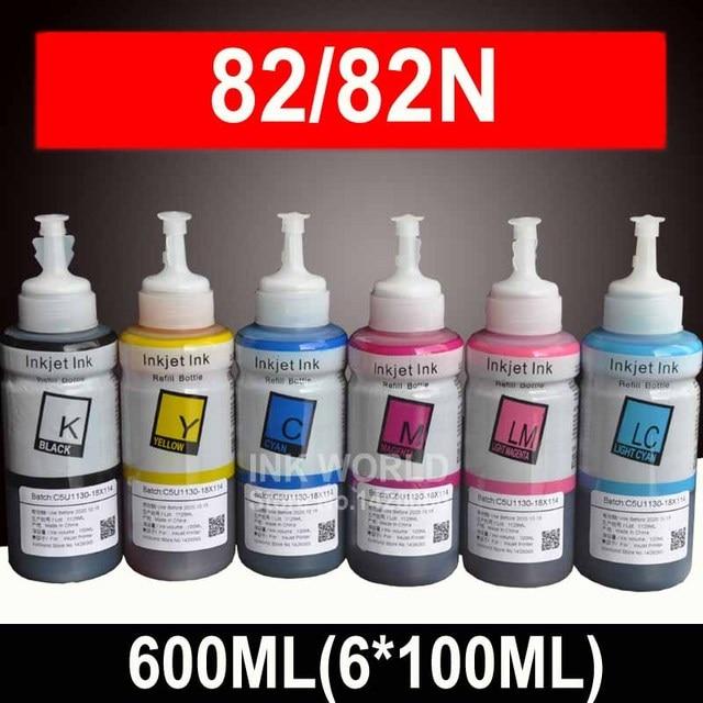 600 мл комплект пополнения чернил Совместимость Epson R290 R270 RX610 T50 rx610 TX800 RX690 R390 artisan 730 принтера чернил T0821 82N 82 чернил