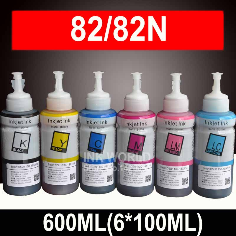 600ML <font><b>Ink</b></font> Refill Kit compatible <font><b>EPSON</b></font> R290 <font><b>R270</b></font> RX610 T50 rx610 TX800 RX690 R390 artisan 730 Printer <font><b>Ink</b></font> T0821 82N 82 <font><b>ink</b></font> image