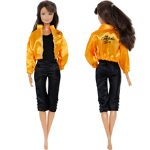 Handmade Sport Outfit Jumpsuit Jacket Coat Casual Clothes For Barbie Doll Dollho