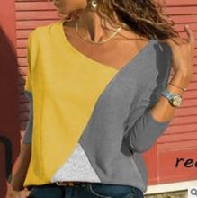 Casual Color Block Patchwork Womens Tops and Blouses Harajuku Plus Size Shirt Female Blouse Streetwear Blusa Feminina Xnxee
