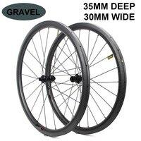700c Disc Brake Bike Carbon Wheel 32*35mm Tubeless Ready Carbon Rim Optional 6 Types Of Hub And Pillar 1423 Spoke 3k/6k/12k/UD