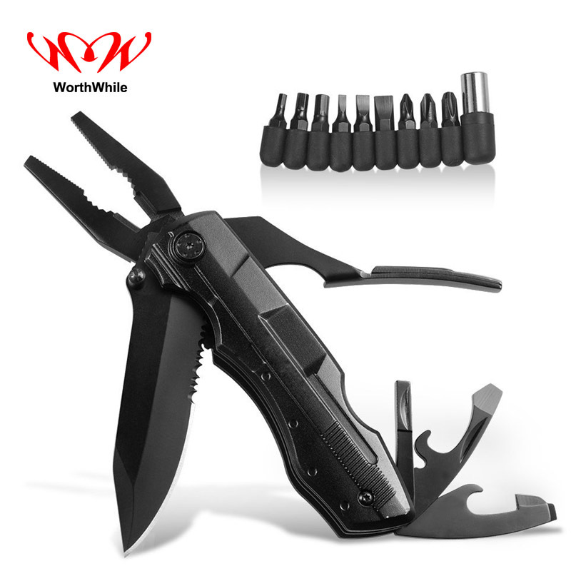 WorthWhile Outdoor Multi Tools Folding Pliers Multifunctional EDC Knife Pocket Camping Hiking Fishing Hunting Survival Equipment
