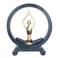 1Pcs Creative Yoga Pose Home Decor Statue Desk Figurine Yoga Girl Desk Decorations For Home Decor