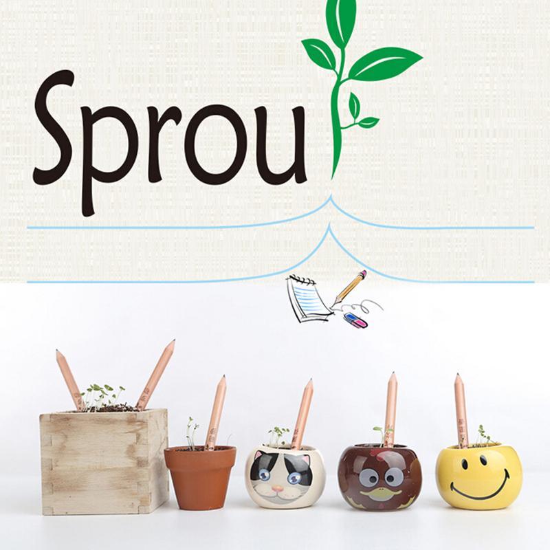 8pcs Idea Germination Pencil Set To Grow Pencil Sprouted Pencil Mini Diy Desktop Potted Plant Special Gifts Artistic Pencil