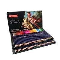 Премиум Мягкие акварельные карандаши 12 24 36 48 72 lapis de cor Профессиональный водорастворимый цветной карандаш для художественных школьных прина...