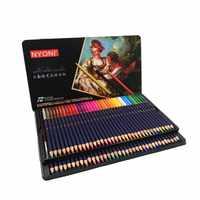 Lápices de acuarela de núcleo suave de alta calidad 12 24 36 48 72 lápiz de color Soluble en agua profesional para arte la escuela suministros