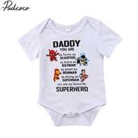 Pudcoco Neugeborenen Baby Jungen Mädchen Tops Kurzarm Brief Sommer Body Sunsuit Outfits Set Kleidung Größe 0-24 M