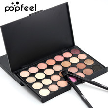 Popfeel Matte Eye Shadow Palette Shimmer Women Eyeshadow Nude MakeUp Make Up Diamond EyeShadow 28 Colors