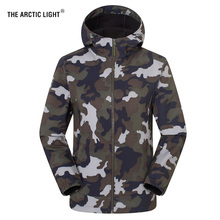 THE ARCTIC LIGHT Camouflage Jacket Hiking Men Women Size S - 3XL Warm Winter High Quality Camping Nature Hike Waterproof Coat