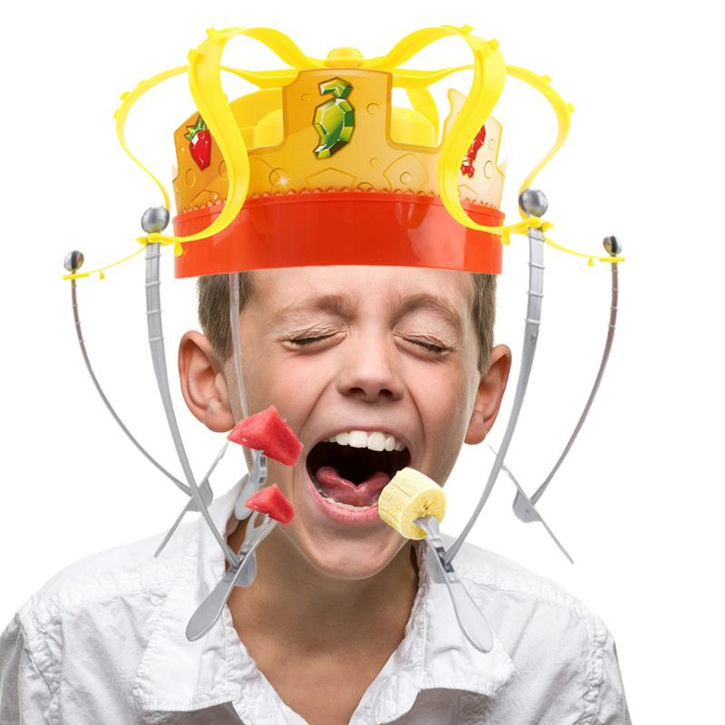 Crown Food Hat Funny Tidy Party Eat The Food Strawberry Marshmallow With Revolving Party Hat