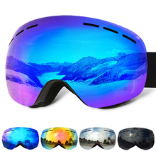 VANREE Brand ski goggles double Lens UV400 anti-fog Skiing eyewear men women mask snow glasses adult skiing snowboard goggles все цены