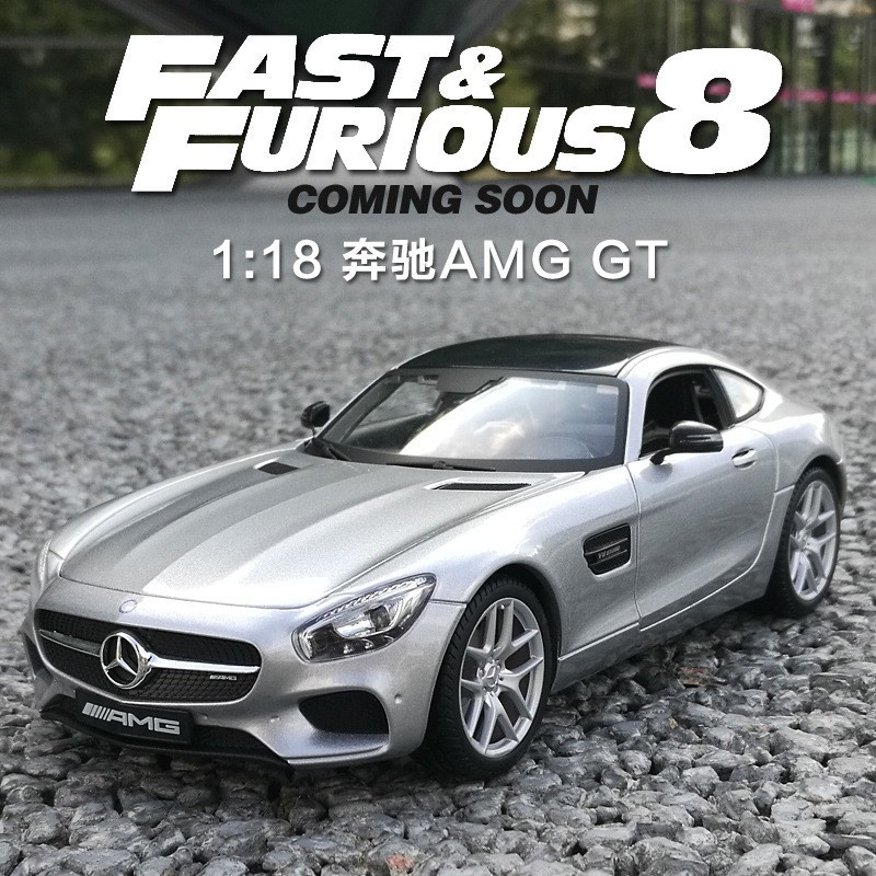 Scale 1 18 Merce Bens AMG GT Model Toy For Kids Christmas Gift Drop Shipping Alloy