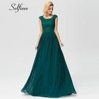 Dark Green Beaded Long Chiffon Dress Women New Arrival Elegant A Line O Neck Sleeveless Appliques Lace Party Formal Dress Maxi
