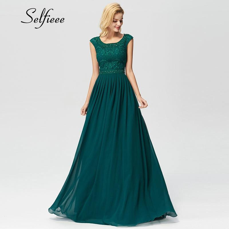 Vestido de renda verde escuro