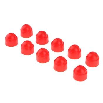 10 Uds. Tapa de plástico rojo, perno hexagonal, tuerca, tapas de protección M6 10x13mm 2