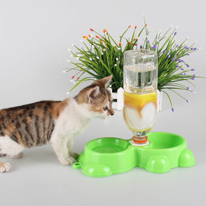 Dual Port Dog Utensils Bowl Cat Drinking Fountain font b Pet b font Food Dish Automatic
