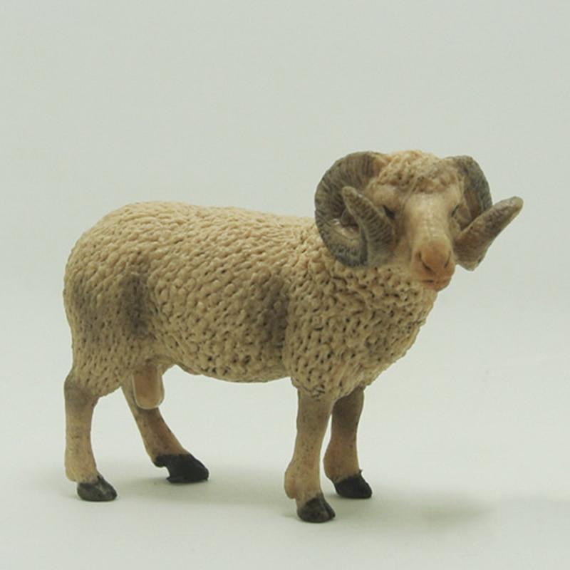 Simulation Animal Sheep Mutton Model Toy Figurine Decor Plastic Model Gift figurine