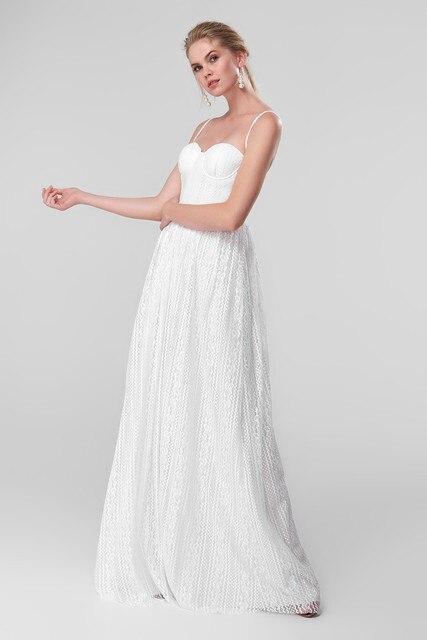 4d47d0ebe Aliexpress.com : Buy Trendyol White Lace Evening Dress TPRSS18FZ0170 ...