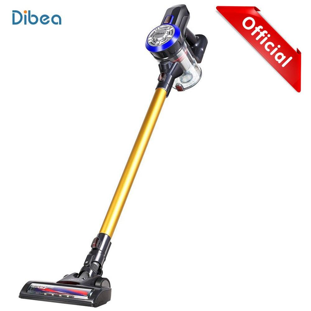 Dibea D18 portátil 2 en 1 inalámbrico de mano aspiradora ciclón Filtro de 8500 Pa de succión fuerte colector de polvo aspirador