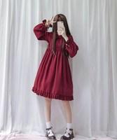 Harajuku Street Fashion Cosplay Female Dress Japanese Soft Sister Gothic Style Dress Lolita Cute Girl Dress