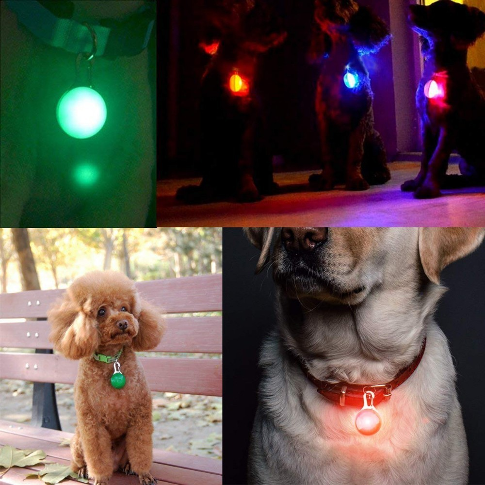 Dogs LED Cat Dog Collar Night Safety Flashlights Leads Light Glowing Necklace For Dog ID Tag Accessories Collier Lumineux Chien in ID Tags from Home Garden