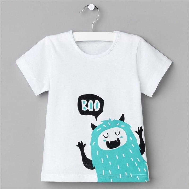 T Shirt for Boy's BOO P. 30 (98-104 cm), white jumper print 18 98 104 cm