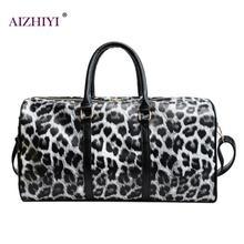 84c63483c De las mujeres de la moda leopardo Honda bolso de gran capacidad de hombro,  Crossbody bolsas de viaje de cuero de la PU de fin d.