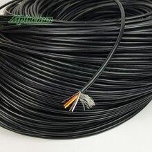 Aipinchun 20 метров 2 3 4 5 ядер экранированный провод UL 2547 28AWG 2,1 канальный аудио кабель сигнальной линии щит провод для усилителя