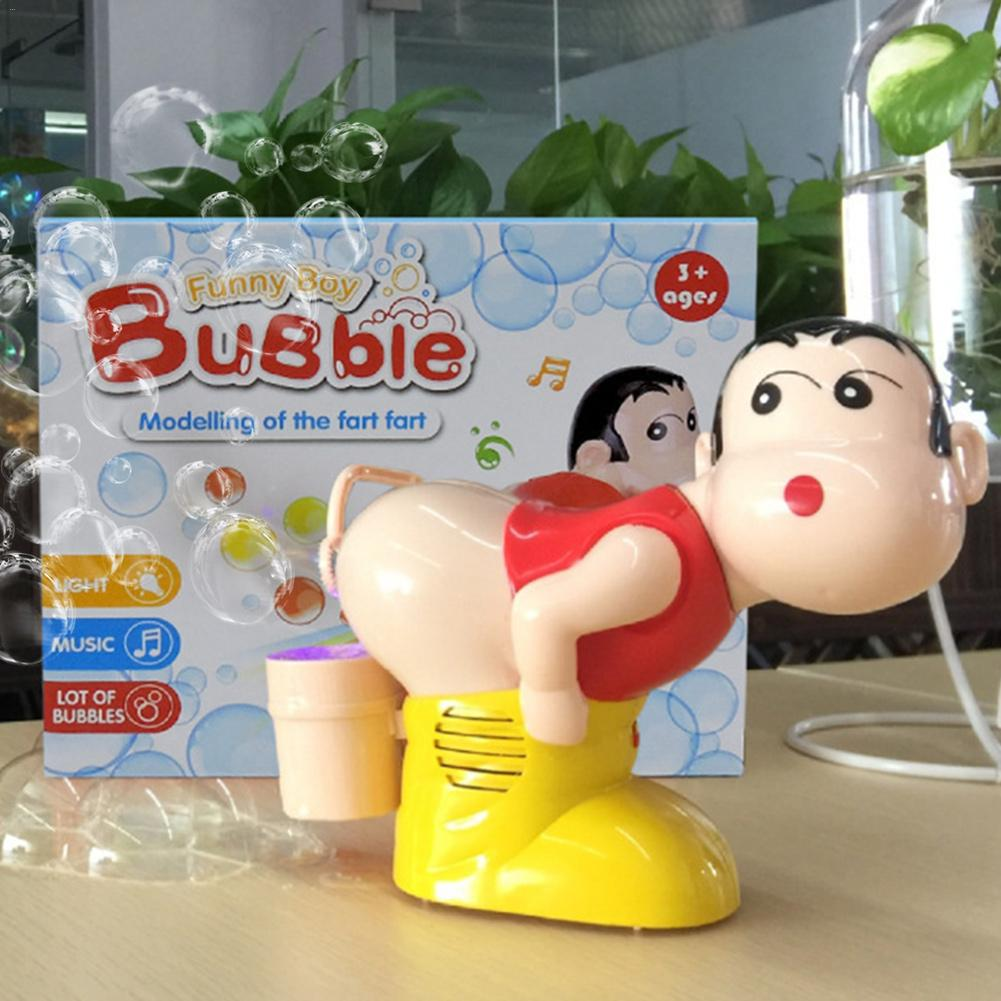 Electric Bubble Machine With Light Music Blowing Bubbles Toy Cartoon Summer Funny Toy For Kids Children