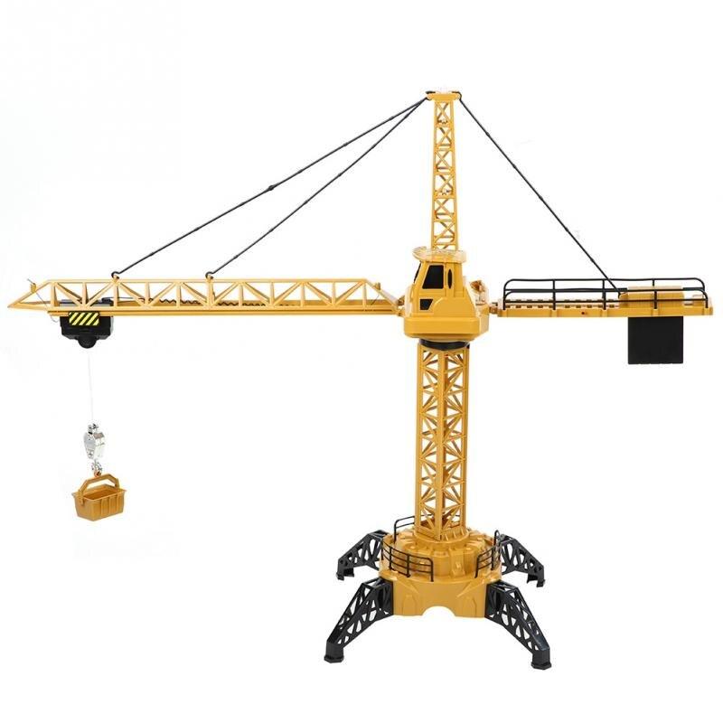 128 Cm Rc Torenkraan 2.4 Ghz 6 Kanalen Simulatie Torenkraan 680 Graden Draaien Geluid Techniek Bouw Auto Speelgoed Voor Kids Perfect In Vakmanschap