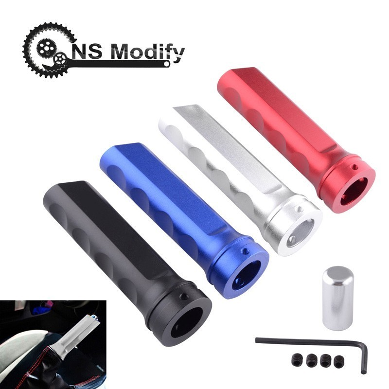 NS Modify RACING Universal Auto Car Aluminum Emergency Parking Hand Brake Sleeve Handbrake Handle Hand Protector Cover